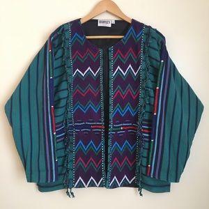 Vintage Guatemalan Bohemian Woven Blazer Jacket